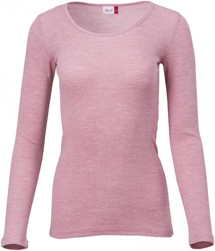 PeopleWearOrganic Damen Melange-Langarmshirt